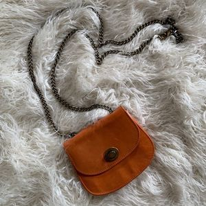 Hobo Leather Mini Chain Purse